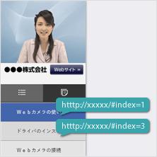 メニュー別URL出力