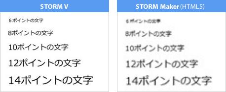 STORM VとSTORM Maker(HTML5版)の変換比較