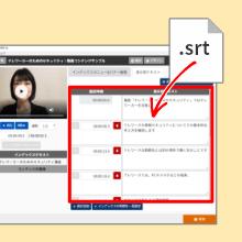 SRTファイルのインポート